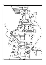 World Minecraft Coloring Pages