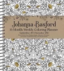 2018 Johanna Basford 16 Month Coloring Weekly Planner Calendar