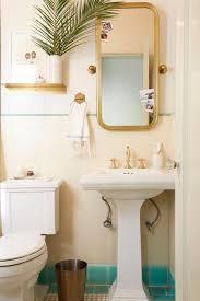 Half Bathroom Ideas With Pedestal Sink by Brady Gives A Refresh To His Vintage Bathroom Emily Henderson