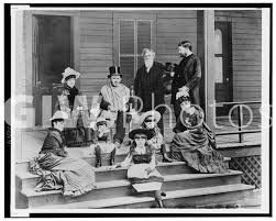 Ulysses S Grant Members Of His Family And Dr Douglas On Porch Ca 1886 UlyssesSGrant LC 27588