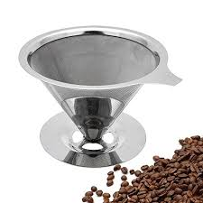 TOPHOME Paperless Pour Over Coffee Maker 188 304 Stainless Steel Reusable Drip Cone Filter Single Cup Brewer
