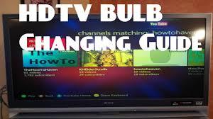 how to change bulb housing for an hdtv sony wega xl 2400