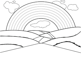 Printable Rainbow Coloring Pages Page Design For Kids