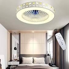 yaoxi moderne deckenventilator mit beleuchtung led leise