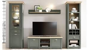 wohnwand cambridge wohnzimmer anbauwand set 4 teilig grün