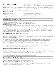 Sample Police Officer Resume Examples Law Enforcement Ates Best Entry Level