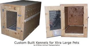 Custom Built Wood Airline Kennels