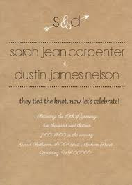 Wedding Invitation For Appetizer And Dessert Reception