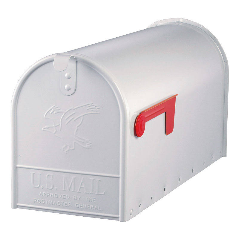 Solar Group Elite Post-Mount Mailbox - White