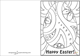 Click The Happy Easter Card Coloring Pages