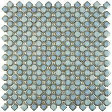 Home Depot Merola Penny Tile by Merola Tile Hudson Diamond Marine 12 3 8 In X 12 3 8 In X 5 Mm