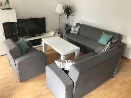 sitzgarnitur wohnzimmer 3 2 1 mit schlaffunktion sofa sessel