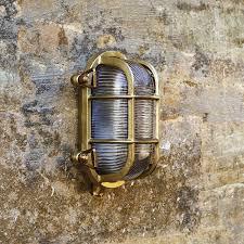 uber l looe outdoor wall light brass