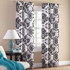 Walmart Mainstay Sheer Curtains by Mainstays Classic Noir Window Curtains Set Of 2 Walmart Com