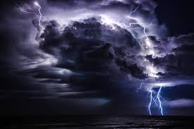 Lightning Storm At Sea HD Exciting Wallpaper