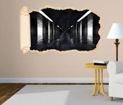3d wandtattoo tapete durchgang schwarz marmor flur säule durchbruch selbstklebend wandbild wandsticker wohnzimmer wand aufkleber 11o1479 wandtattoos