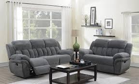 100 2 Sofa Living Room Santorini PC Reclining Reclining Loveseat Charcoal Color Light