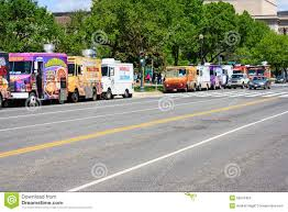 100 Food Trucks In Dc Today Row Of National Mall Washington DC Editorial