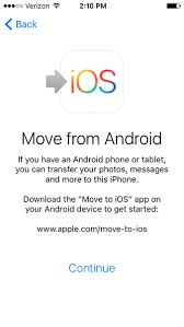 Transfer Contacts from Android to iOS