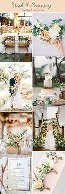 Rustic Peach Gold and Green Wedding Inspiration Pinterest