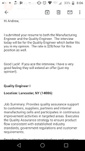 Applied For A Manufacturing Engineer Job And This Recruiter ... Industrial Eeering Resume Yuparmagdaleneprojectorg Manufacturing Resume Templates Examples 30 Entry Level Mechanical Engineer Monster Eeering Sample For A Mplates 2019 Free Download Objective Beautiful Rsum Mario Bollini Lead Samples Velvet Jobs Awesome Atclgrain 87 Cute Photograph Of Skills Best Fashion Production Manager Bakery Critique Of Entrylevel Forged In