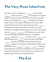 Halloween Mad Libs For 5th Graders by 100 Mad Libs Template Disney Bridal Shower Mad Libs Game