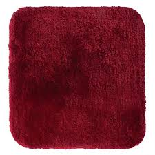teppich chic 55x50 cm rot polyester microfaser 100