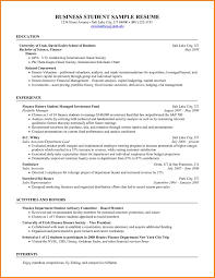 Business Student Resumes Sample Resume Financial Management