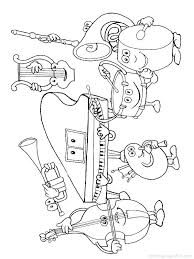 Full Image For Music Instruments Coloring Pages Free Musical 24 Preschool