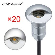 fvtled 20pcs lot sensor photocell underground light 12v led step