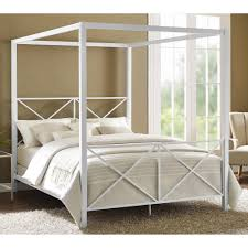 Twin Metal Canopy Bed Pewter With Curtains by Canopy Bed Frames