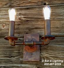rustic industrial wall sconce light fixture with 2 fashioned