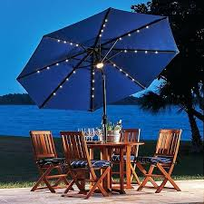 Improvements 9 Solar Lighted Umbrella Pine Green A Liked On Featuring Home Outdoors Patio Umbrellas Outdoor