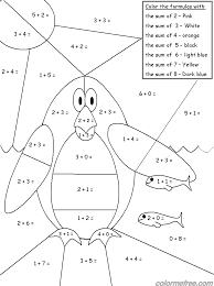 Coloring Pages Math Games 4 Kids 5 Color Me Sheets