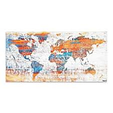 Bed Bath And Beyond Decorative Wall Art by Maps Wall Decor Bed Bath U0026 Beyond