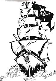 100 Pirate Ship Design Awesome Black And White Tattoo By Evergreen Academy