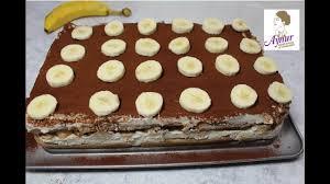 einfaches bananentiramisu rezept i no bake cake i bananenkuchen ohne backen