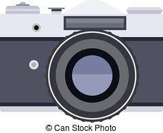 Vector Old Classic Camera Black Outline Eps