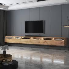 selsey tv schrank rednaw tv board in wotan eiche matt mit led drei schubladen stehend hängend 300 cm breit
