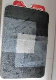 details zu meusch badteppich 60 x 90 cm schiefer