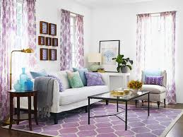 Grey And Purple Living Room Ideas by Pretty Purple Accent For Interior Decorating Ideas With White