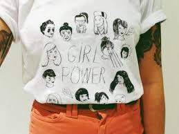 Shirt Girl Power White Black Cute T Girly Kawaii Retro Vintage Seapunk Vapowave Comics