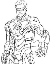 Iron Man Unmasked Coloring Pages