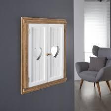 spiegel mit flügeltüren jystrup two tone herzen