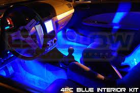 LEDGlow 4pc Blue LED Car Interior Lights