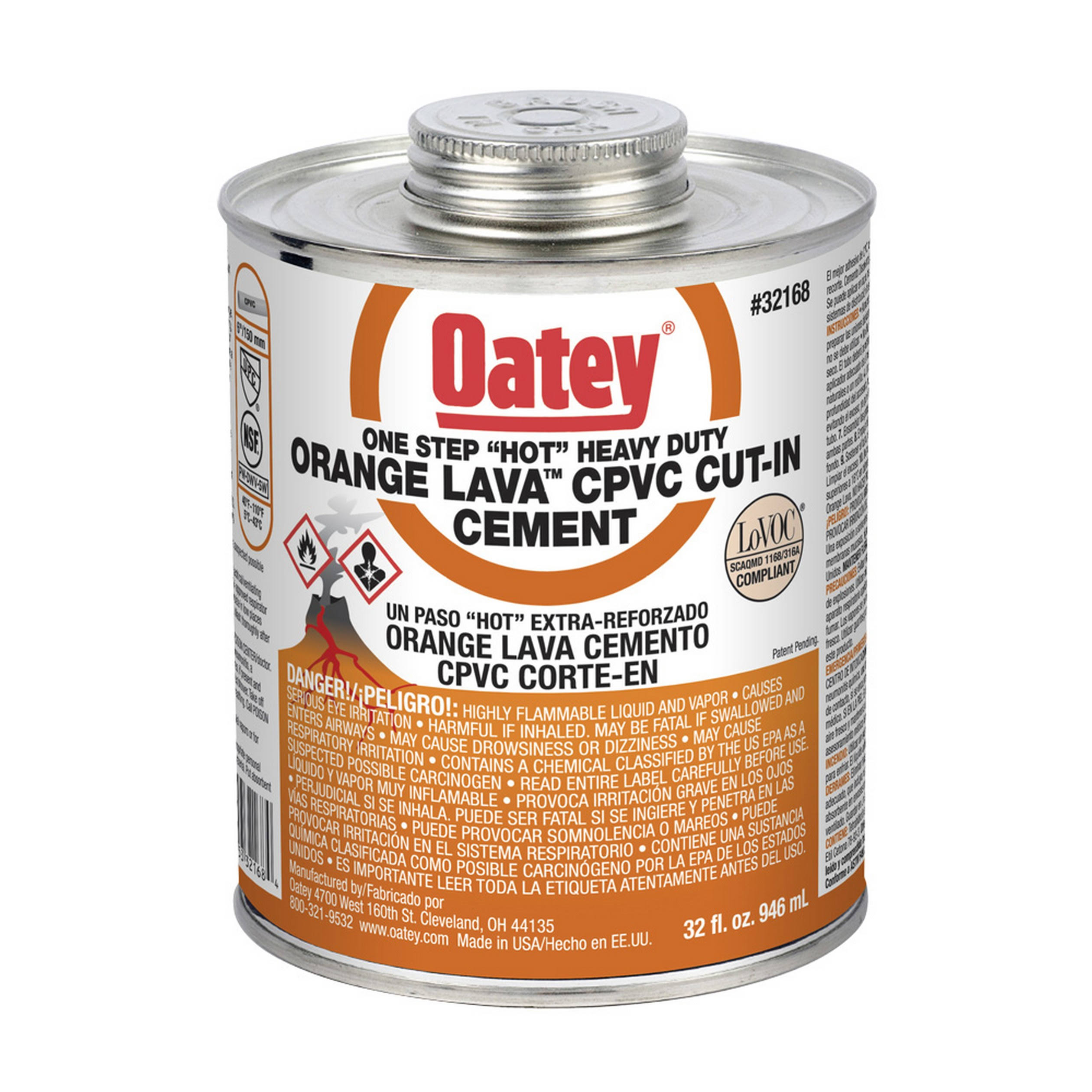 Oatey All Purpose Cement - Milky Clear, 8oz