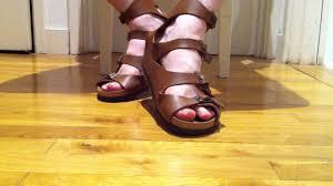 birkenstock athens gladiator mens sandals youtube