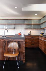 ceramic subway tile kitchen contemporary with island milk glass