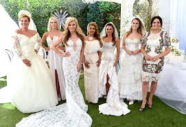 something old the melbourne housewives wear their wedding dresses