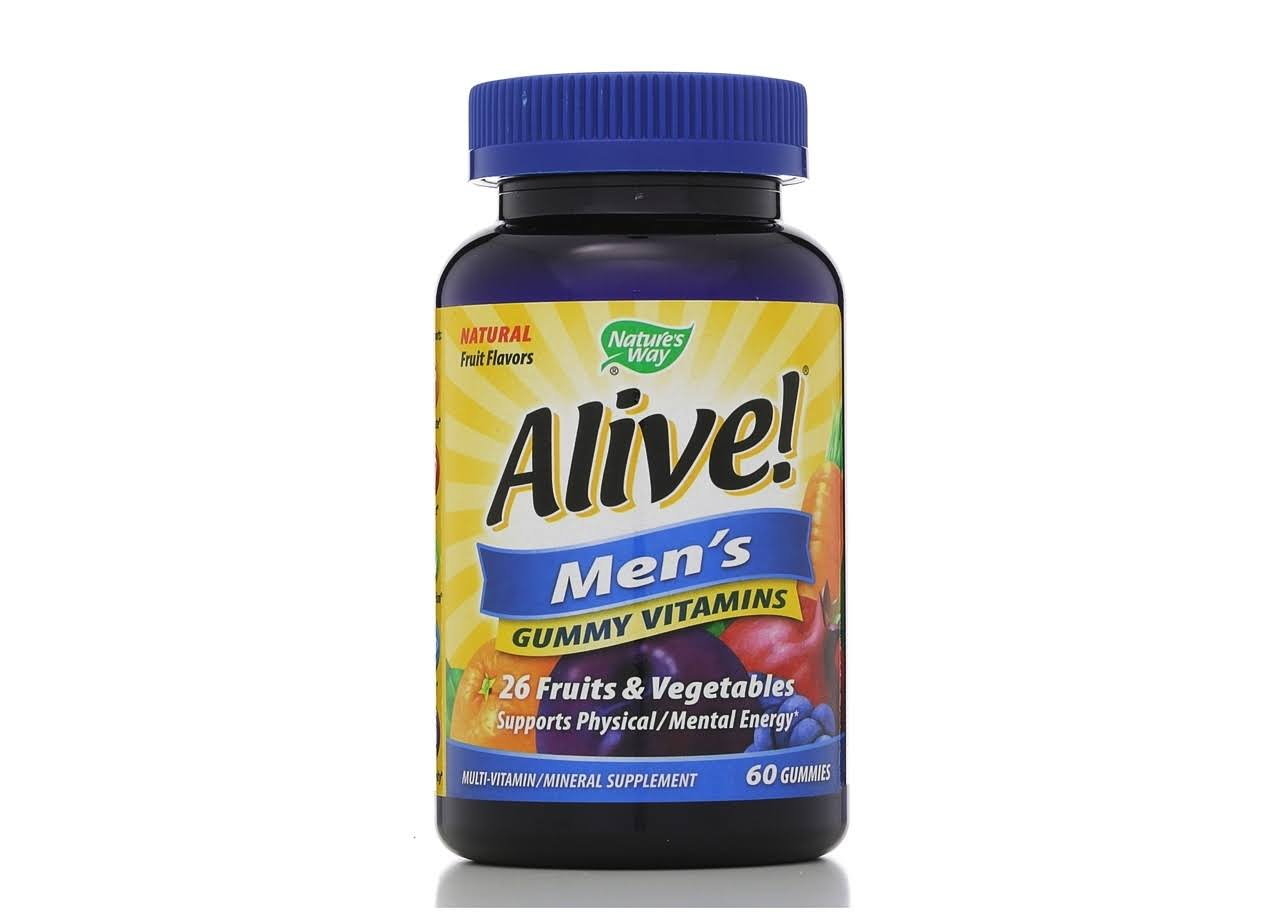 Nature's Way Alive Men's Gummy Vitamins - 60 Gummies